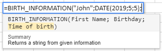 BirthInformation